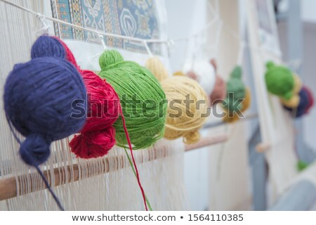 an ancient hand loom used to weave blankets stock photo © sophiejames