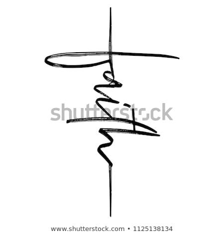 christian cross card vector illustration stock photo © carodi