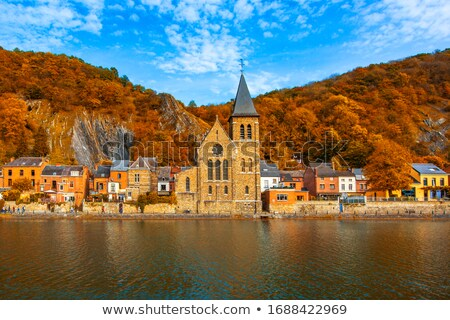 Sunset in Namur, Belgium Stock photo © artjazz
