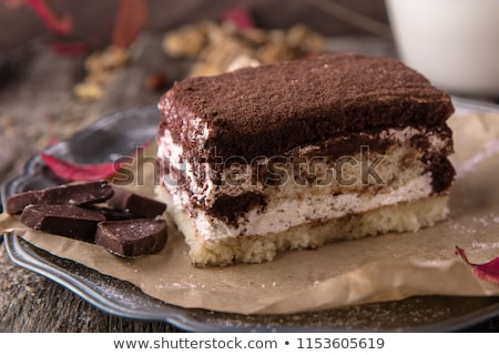 Frescos chocolate crema torta casero tiramisu Foto stock © zmkstudio