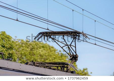 железная дорога электроэнергии изолированный из Focus металл Сток-фото © ABBPhoto