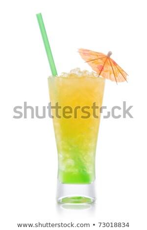 serin · içmek · yeşil · nane · buz - stok fotoğraf © david010167