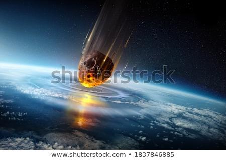 большой огненный шар черный Сток-фото © wavebreak_media