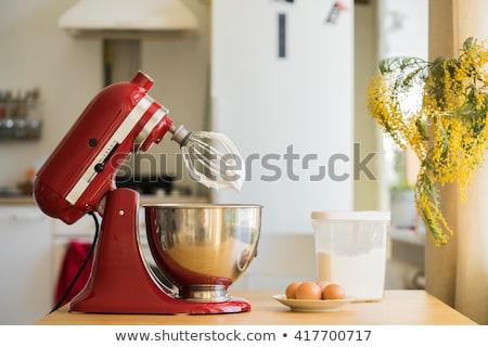 電気 · 食品 · プロセッサ · 孤立した · 白 · ナイフ - ストックフォト © kitch