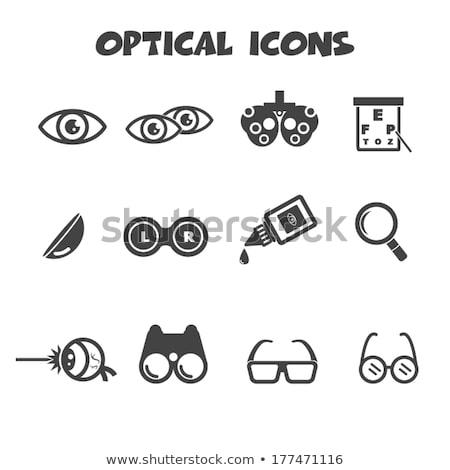 optometrist · test · gözlük · kolay · yalıtılmış - stok fotoğraf © abbphoto