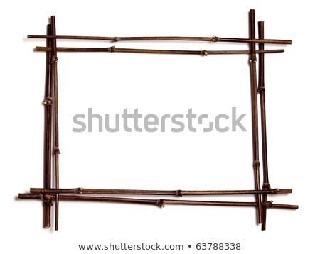 Vízszintes bambusz frissen vág egymásra pakolva vásár Stock fotó © rhamm