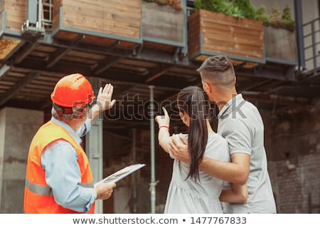 Laborer showing work Stock photo © photography33