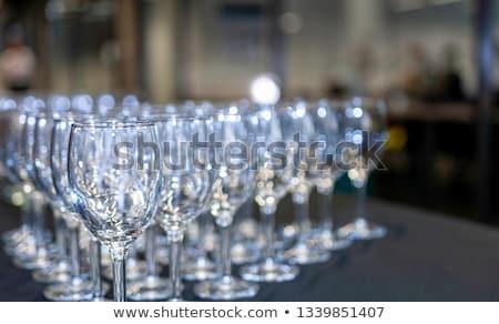 пусто очки набор ресторан таблице вертикальный Сток-фото © ABBPhoto