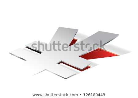 Paper folding with Yen symbol in perspective view Stock photo © archymeder