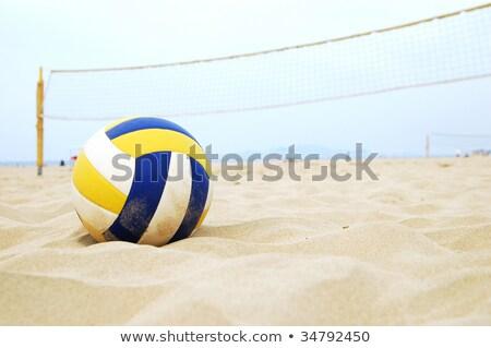 Plaj voleybol net Portekiz spor Stok fotoğraf © inaquim