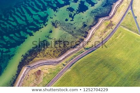 青 海 海 海岸線 岩 海岸 ストックフォト © lunamarina