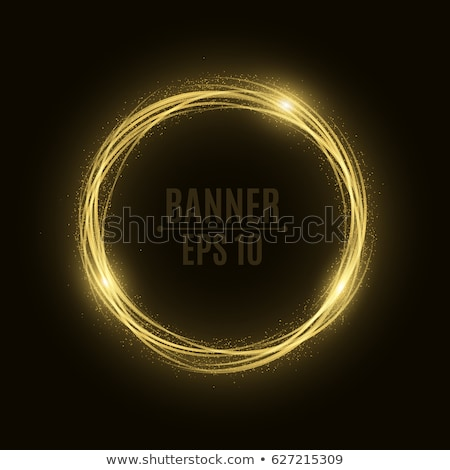 Abstract glow Twist with golden flow. EPS 10 Stock photo © beholdereye