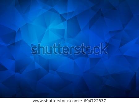 brand in blue hexagon Stock photo © marinini