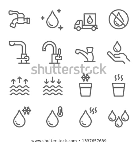 water tap with drop   eco sign stock photo © djdarkflower