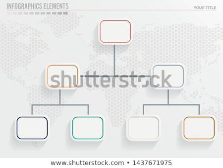 3D · absztrakt · diagram · cég · bemutató · terv - stock fotó © blotty