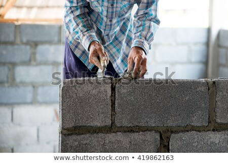 mason putting cement on a wall Stock photo © photography33