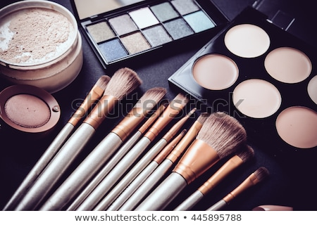 profissional · make-up · paleta · batom · pó · olho - foto stock © evgenyatamanenko