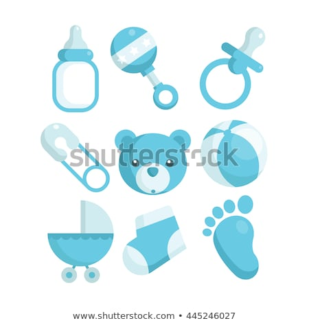 babys pacifier blue vector illustration Stock photo © konturvid
