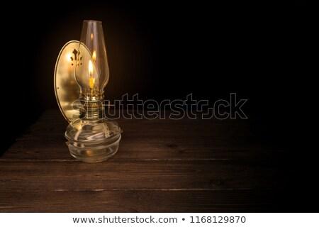 ストックフォト: Old Oil Lamp With Mirror