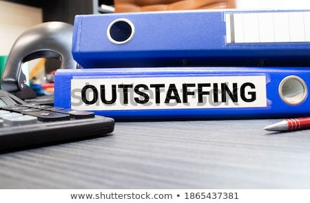 Outstaffing. Business Background. Stock photo © tashatuvango
