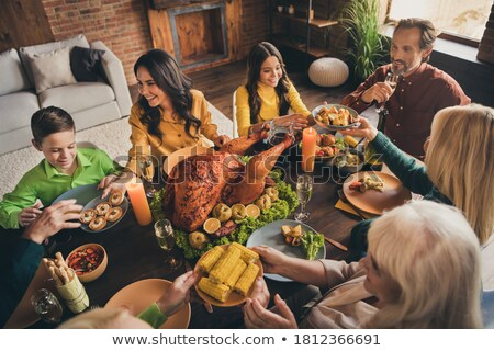 Turkije geserveerd chef gevuld voedsel Stockfoto © stevemc