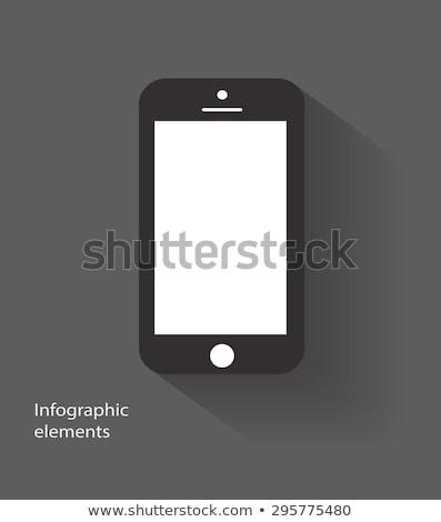 синий · Бар · мобильного · телефона · иконки · вектора · веб-иконы - Сток-фото © SergeyT