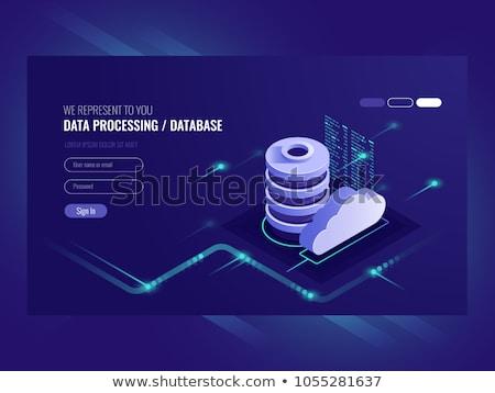 Web hosting karanlık dijital mavi renk Stok fotoğraf © tashatuvango