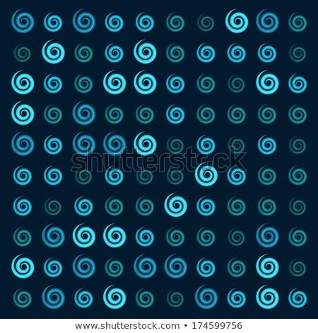 3D lucido blu ionica turbinio pattern Foto d'archivio © Melvin07