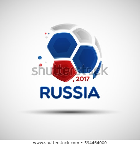 balón · de · fútbol · bandera · Rusia · fútbol · campeonato · 3D - foto stock © daboost