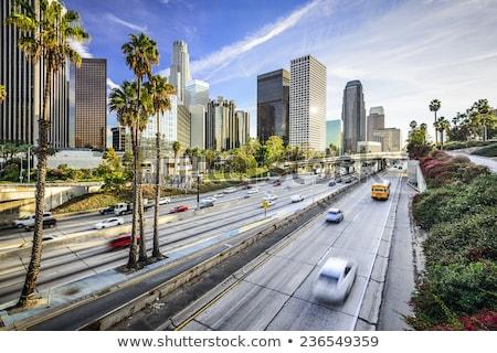 Los Angeles tarde nuvens luz fundo verde Foto stock © meinzahn