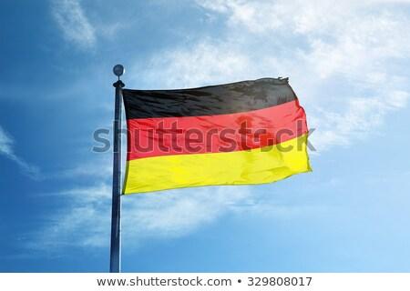 フラグ · ドイツ · 塗料 · 色 · 絵画 · 黒 - ストックフォト © almir1968