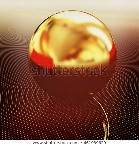 Gold ball on light path to infinity Stock photo © Guru3D