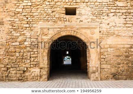 Slifa Kahla, Ancient Gate of the City of Mahdia, Tunisia Stock photo © Kayco