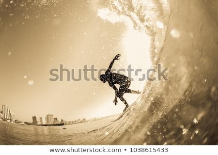 Sepya görüntü soyut dalgalar arka plan Stok fotoğraf © tiero
