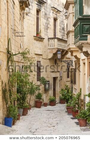 cobbled street in valetta old town malta Stock photo © travelphotography