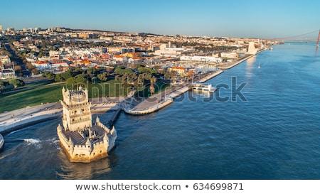 Panorama Lisboa Portugal edificio viaje estatua Foto stock © vichie81