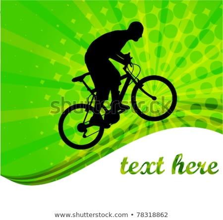 bicyclist on the abstract background with space for text Stock photo © bokica
