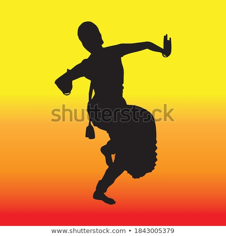 indian dance silhouette stock photo © adrenalina