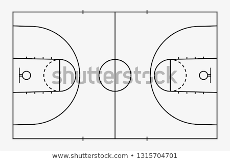 Basket domaine balle fond formation cuir Photo stock © stockshoppe
