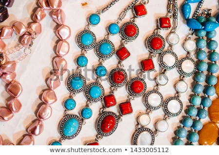 background with a pattern made of precious stone and silver gla Stock photo © yurkina