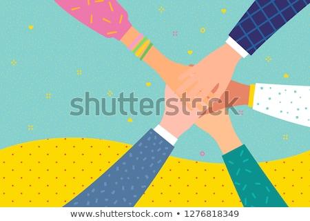 Pessoas juntos unidade logotipo da empresa negócio Foto stock © shawlinmohd