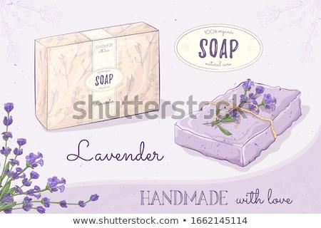 levendula · szappan · só · rusztikus · fa · deszka · virág - stock fotó © grafvision