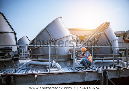 Ipari ventillátor közelkép elektromos technológia ipar Stock fotó © janaka