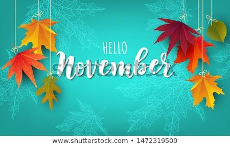 november design Stock photo © redshinestudio