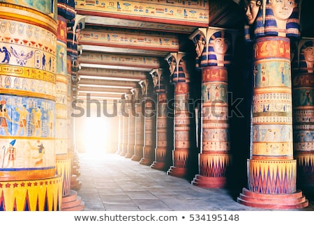Hieroglyphic carvings in ancient egyptian temple Stock photo © Mikko