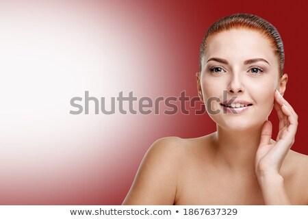 заманчивый женщину прикасаться волос лице Сток-фото © dash