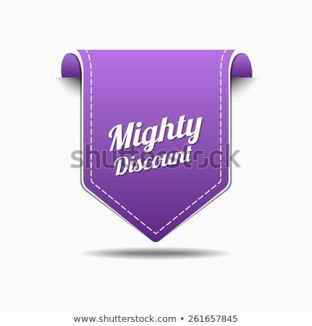 могущественный скидка Purple вектора икона дизайна Сток-фото © rizwanali3d