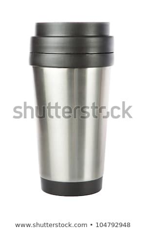 Utazás zsonglőr csésze közelkép kávé üveg Stock fotó © ozaiachin