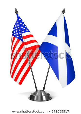 USA Schotland miniatuur vlaggen geïsoleerd witte Stockfoto © tashatuvango