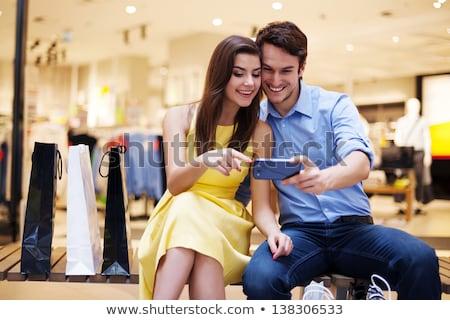 young woman touching hand to leg stock photo © wavebreak_media